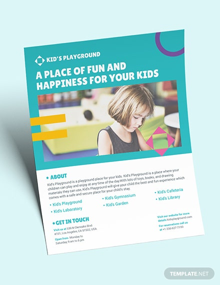 Play School Flyer Download