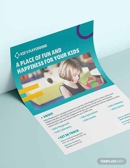Sample Play School Flyer