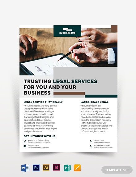 legal services flyer