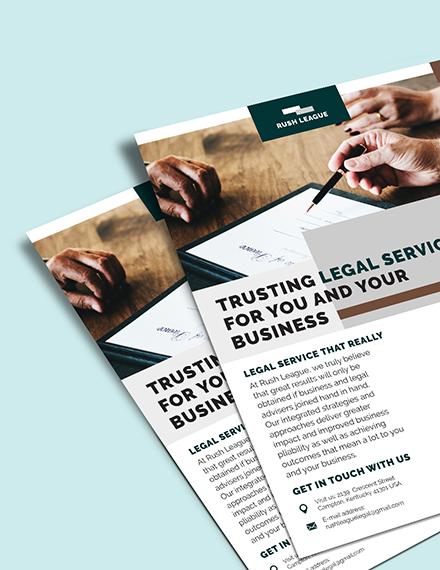 Sample Legal Services Flyer