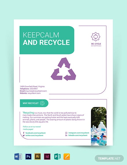 recycling flyer template 1