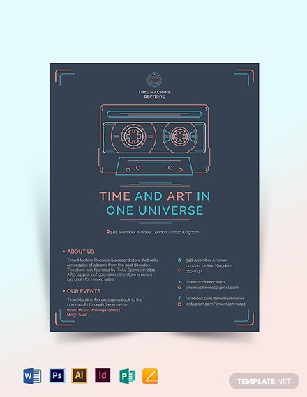 retro business flyer template 1