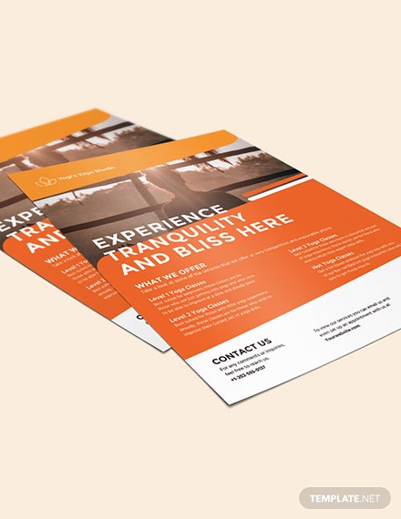 Sample Yoga Studio Flyer