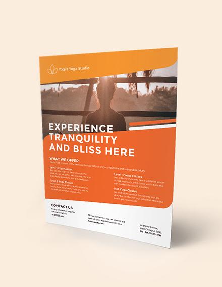 Yoga Studio Flyer Download