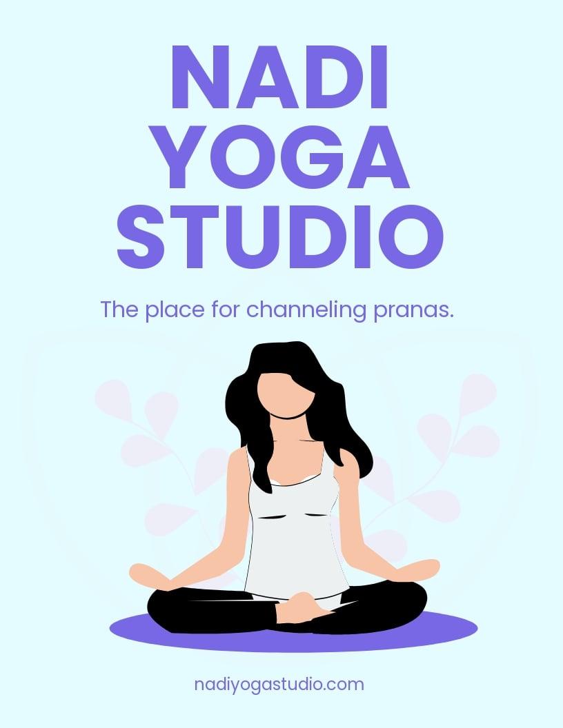 Yoga Studio Flyer Template