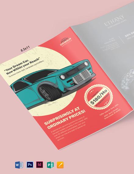 Car Dealer Magazine Ads Template