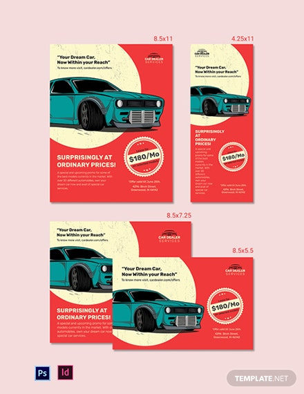 Car Dealer Magazine Ads Template
