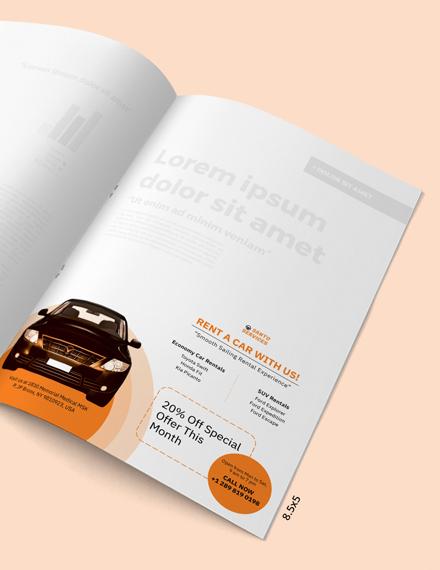 Printable Car Rental Magazine Ads Template