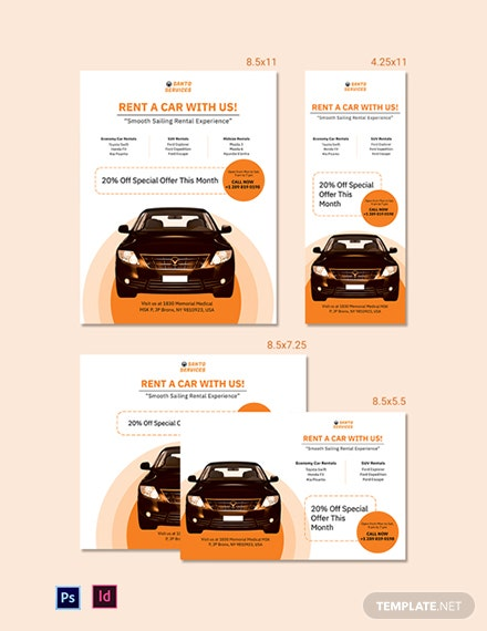 Car Rental Magazine Ads Template