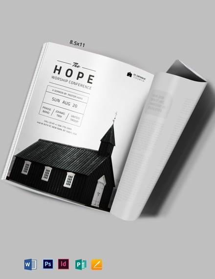 church event magazine ads template 440