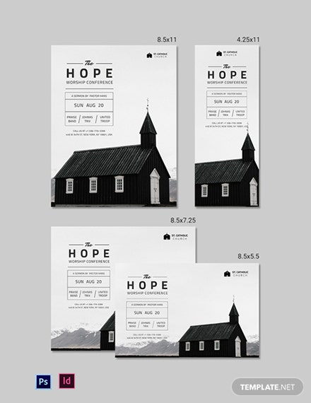Church Event Magazine Ads Template