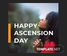 Ascension Day Pinterest Profile Photo Template