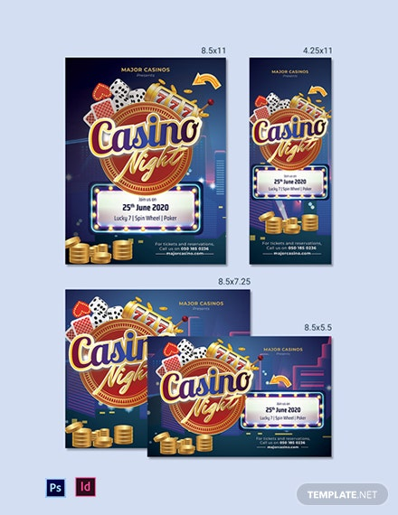 Casino Magazine Ads Template