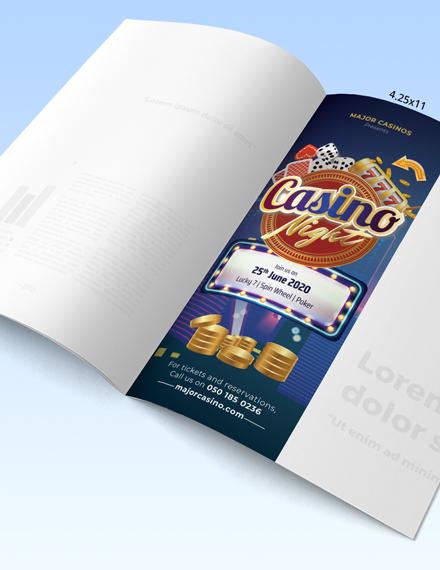 Printable Casino Magazine Ads Template