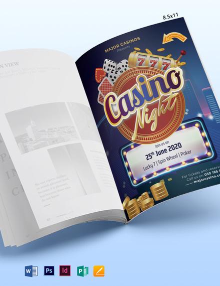 Casino Magazine Ads Template