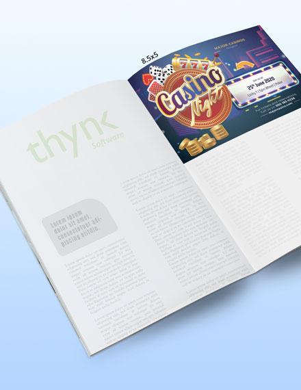 Sample Casino Magazine Ads Template