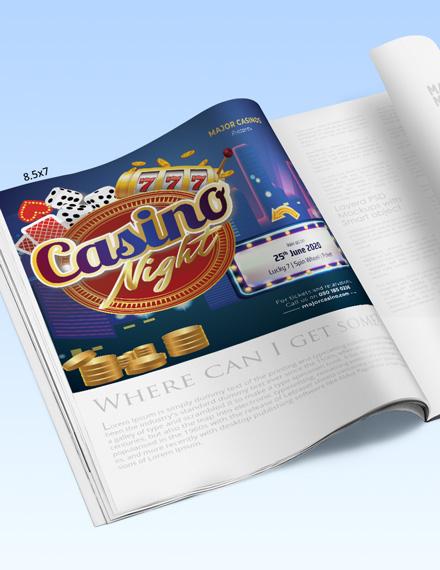 Editable Casino Magazine Ads Template