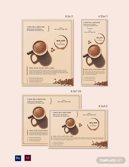 Coffee Shop Magazine Ads Template