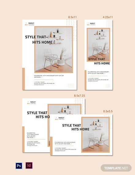 Furniture Shop Magazine Ads Template