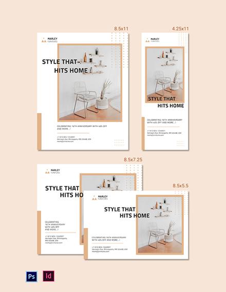 Furniture Shop Magazine Ads Template