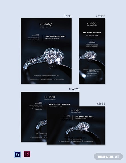 Jewellery Store Magazine Ads Template