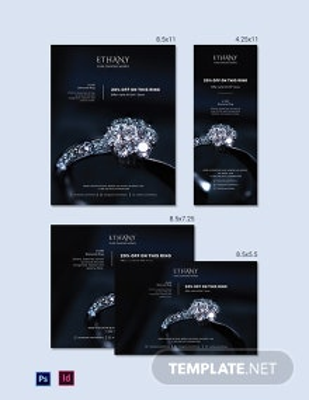 Jewellery Store Magazine Ads Template