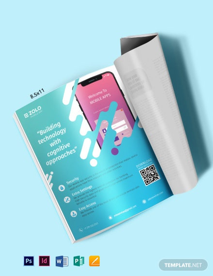 Mobile App Magazine Ads Template