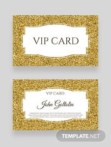 Free Golden Membership Card Design Template
