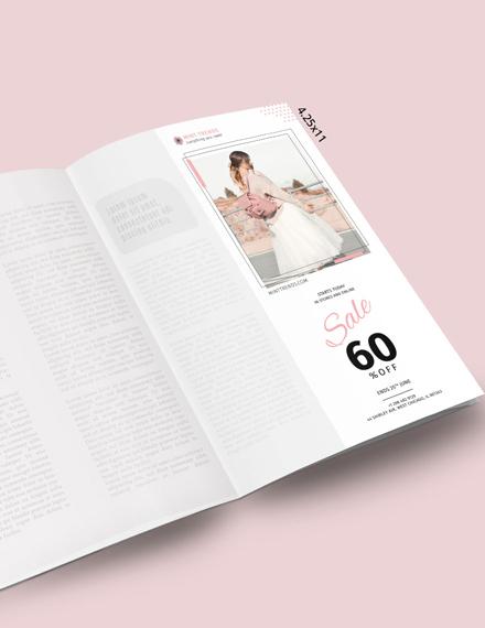 Printable Product Sale Magazine Ads Template
