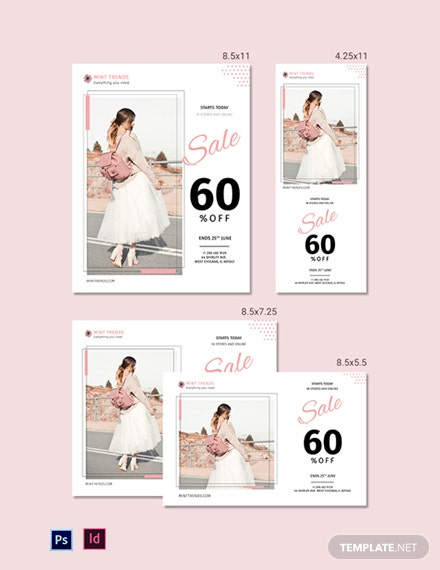 Product Sale Magazine Ads Template
