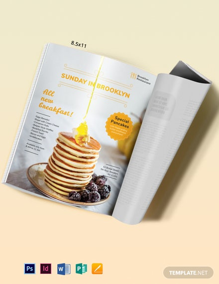 Restaurant Magazine Ads Template