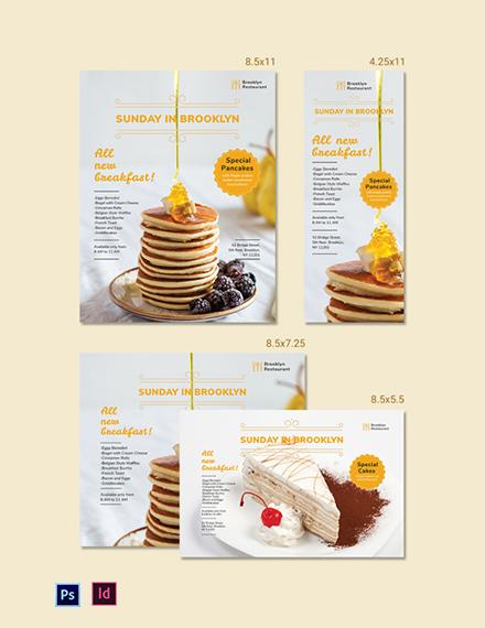Restaurant Magazine Ads Template