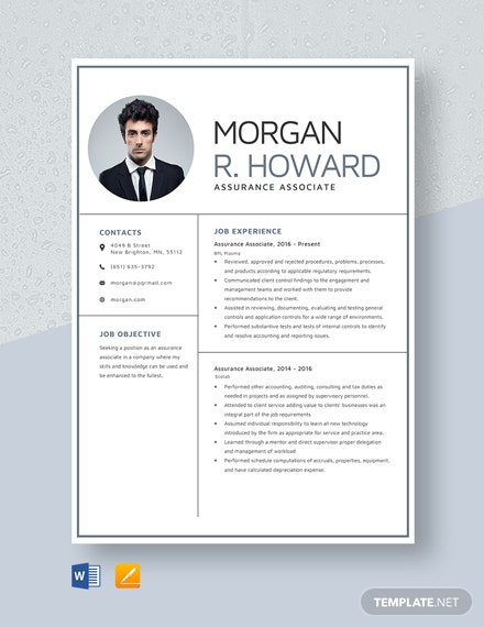 Assurance Associate Resume Template