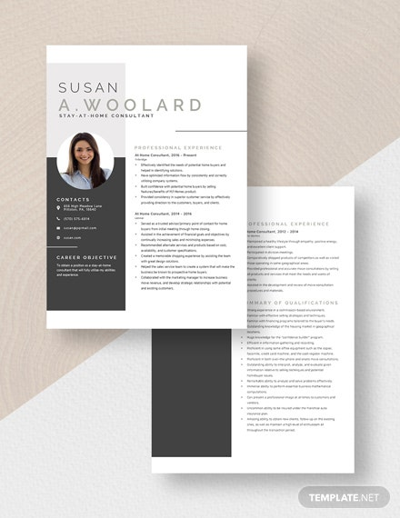At Home Consultant Resume Download