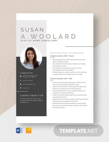 At Home Consultant Resume Template