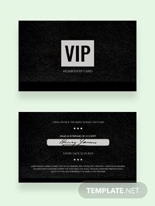 Free Membership Card Template