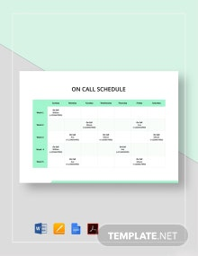 On Call Schedule Template