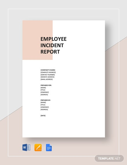 printable employee incident report