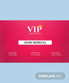 Free Official Lifetime Membership Card Template