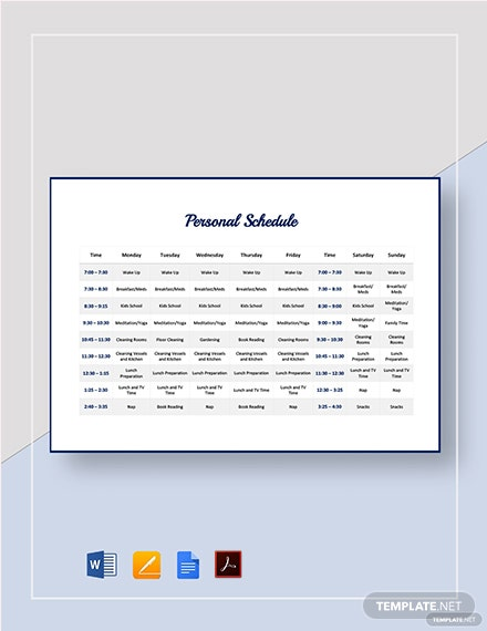personal schedule 2