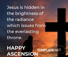 Free Ascension Day Quote Template