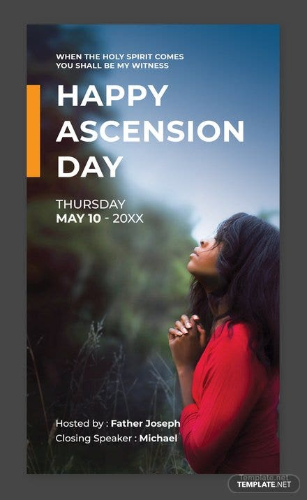 Free Ascension Snapchat Geofilter Template