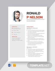 Cellars Supervisor Resume Template