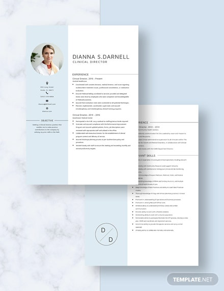 Clinical Director Resume Download
