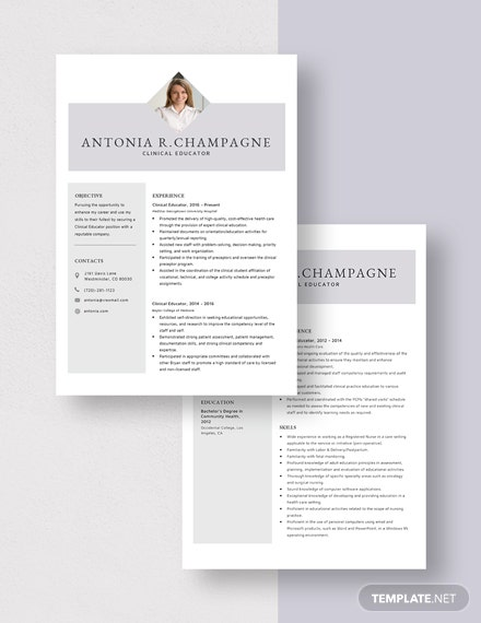 Clinical Educator Resume Download