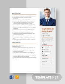 Clinical Nurse Resume Template
