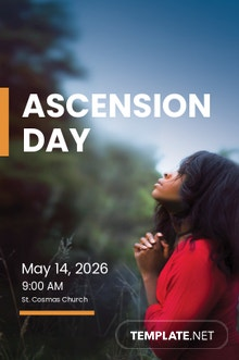 Free Ascension Day Tumblr Post Template