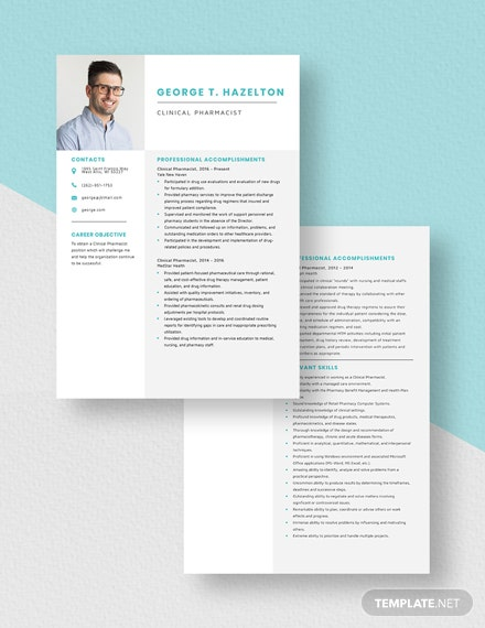Clinical Pharmacist Resume Download