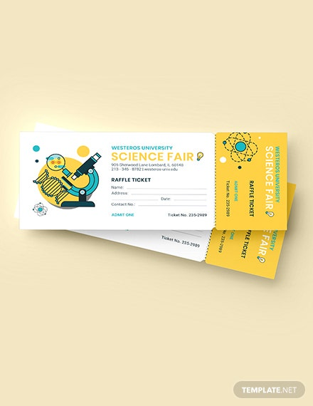 Science Fair Raffle Ticket Download