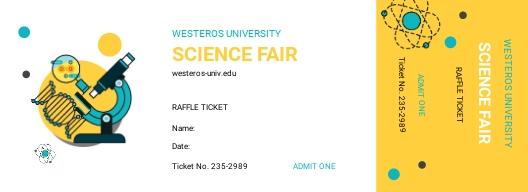Science Fair Raffle Ticket Template.jpe